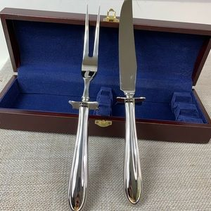 Hampton Carving Knife Set Silversmith 18/10 Korea.